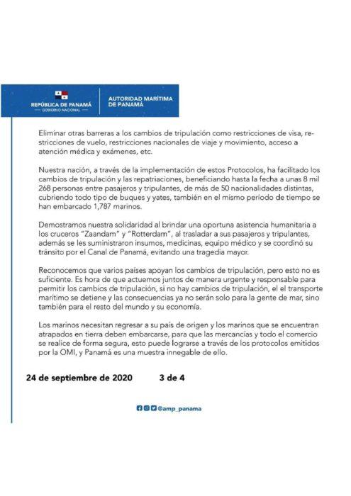 COMUNICADO PANAMA ABOGA POR LA SOLIDARIDAD ENTRE LOS GOBIERNOS PARA AFRONTAR CON URGENCIA LOS CAMBIOS DE TRIPULACIÓN-page-003
